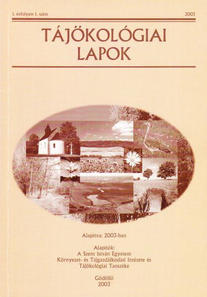 Tájökológiai Lapok: 1.(2003)-13.(2015)1.