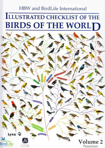 HBW and BirdLife International Illustrated Checklist of the Birds of the World. Vol.2.: Passerines