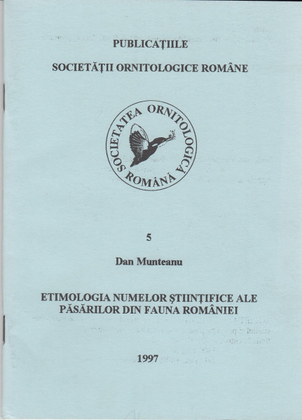 Etimologia numelor stiintifice ale pasarilor din fauna Romaniei