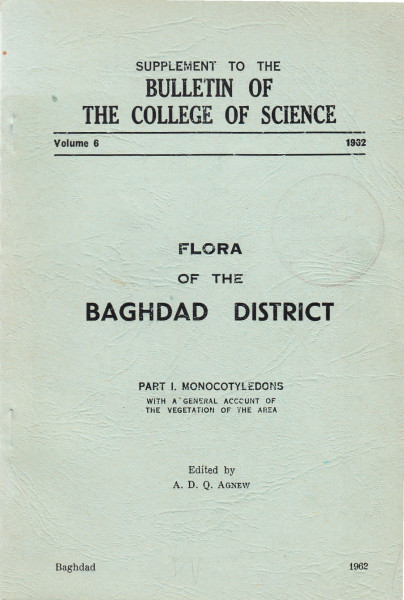 Flora of the Baghdad District. Part I.: Monocotyledons