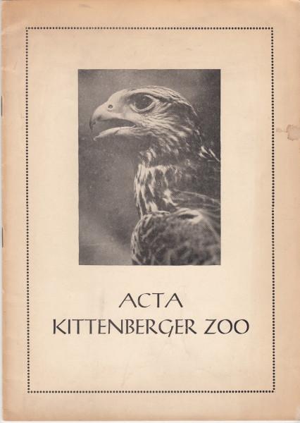 Acta Kittenberger Zoo. Kittenberger Kálmán Növény- és Vadaspark értesítője