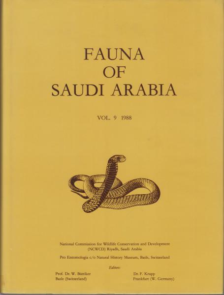 Fauna of Saudi Arabia. Vol. 9.