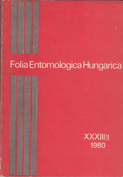 Folia Entomologica Hungarica: 41.[33.](1980)1., 43.(1982)2., 56.(1995), 58.(1997)