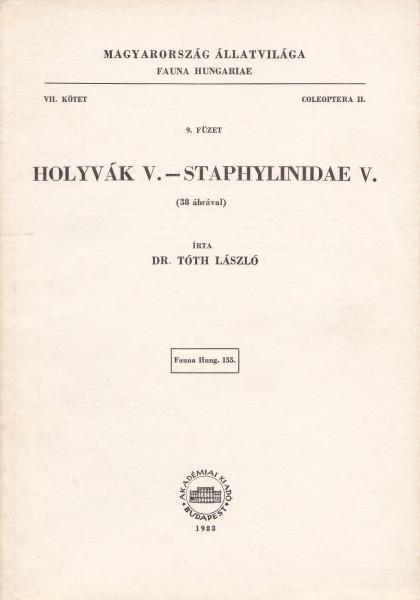 Holyvák V. - Staphylinidae V.