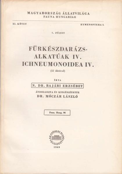 Fürkészdarázs-alkatúak IV. - Ichneumonoidea IV.