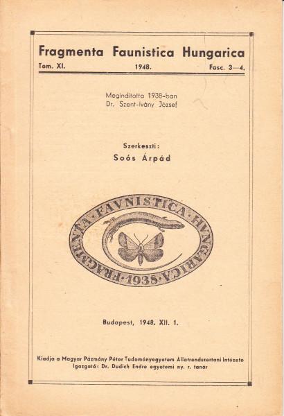 Fragmenta Faunistica Hungarica: 1.(1938)-11.(1948)
