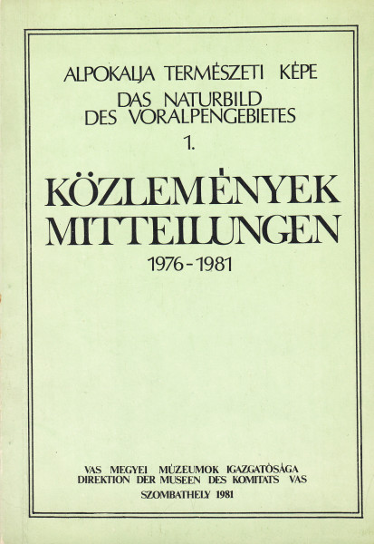 Alpokalja Természeti Képe: 1.(1976/1981)[1981]