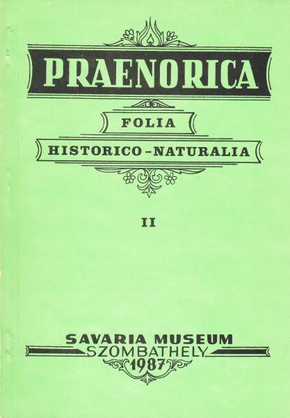 Praenorica Folia Historico-Naturalia: 2.(1987)