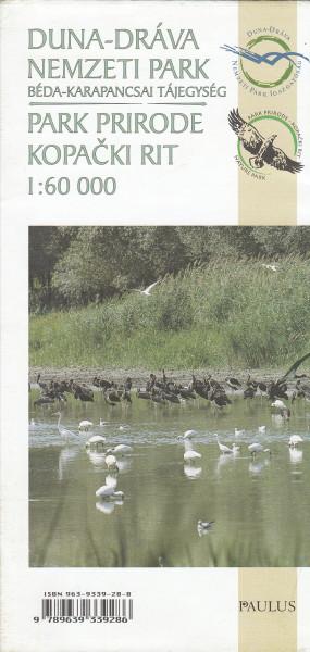 Duna-Dráva Nemzeti Park, Béda-Karapancsai tájegység; Park Prirode Kopacki Rit [térkép]