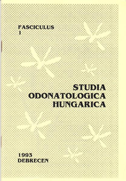 Studia odonatologica Hungarica: 1.(1993)-19.(2017)